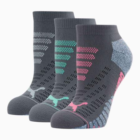 Calcetines cortos de felpa 1/2 para mujer [paquete de 1], GRIS / MULTICOLOR, pequeño